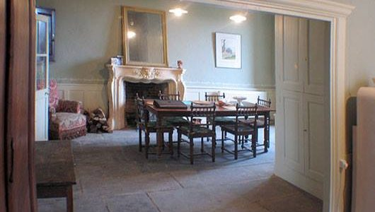 Dining Room with Flagstone Floor